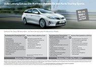 Das Business-Paket im Toyota Auris Touring Sports