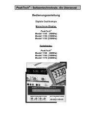 Bedienungsanleitung PeakTech - ALBEDO Instruments