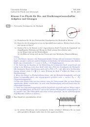 Klausur I (WS 2011): Aufgaben und Lösungen - Universität Potsdam