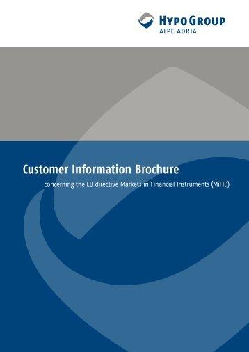 Customer Information Brochure - Hypo Alpe-Adria-Bank AG