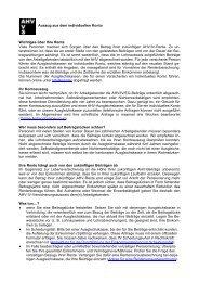 Informationen zum individuellen Konto - Walkringen