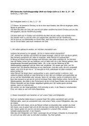 Karfreitagspredigt – zweiter Versuch - EFG Karlsruhe