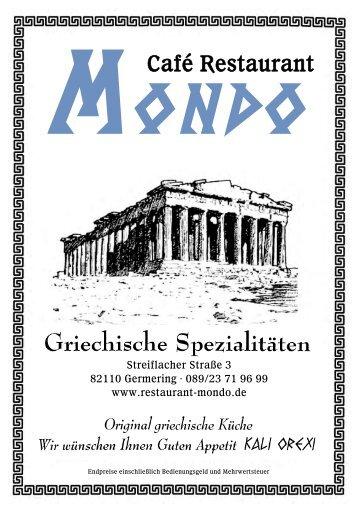 Unsere Speisekarte (Download als PDF) - restaurant-mondo.de