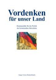 Vordenken für unser Land - Junge Union Deutschlands