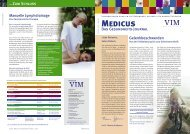 Medicus Ausgabe 1/2005 - 2. Jahrgang - VIM