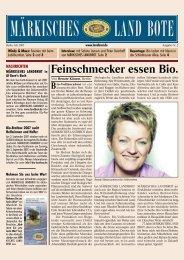 Ausgabe Nr. 2 - Juli 2007 - Märkisches Landbrot