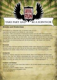 Strecke und Hindernisse - Survival Run