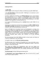 1 Lösung zu Fall 5 I. § 280 I BGB U könnte gegen A einen Anspruch ...