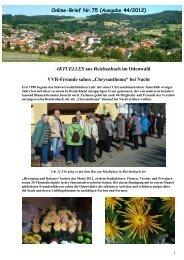 Nr. 75 vom 10.11.2012 - Verschönerungsverein Reichenbach