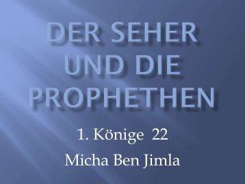 Der Seher und die Prophethen