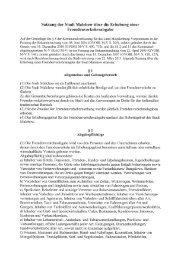 Satzung der Stadt Malchow über die Erhebung einer