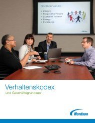 Verhaltenskodex - Nordson Corporation