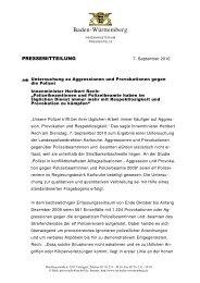 Untersuchung zu Provokationen gegen die Polizei - Polizei Baden ...