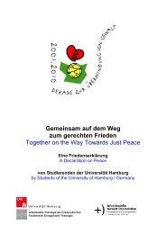 Gemeinsam auf dem Weg zum gerechten Frieden - International ...