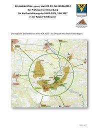 Regionale Presseberichte 2012: vom 01.01. bis 30.06. - Weißwasser
