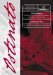 Weiterbildung Festkonzert 2013 - Vorarlberger Landeskonservatorium