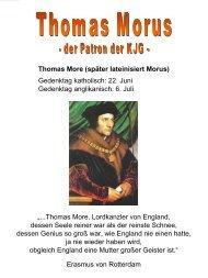 Thomas More (später lateinisiert Morus) - Sankt Jakob Friedberg