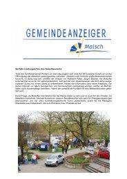 Sechste Leistungsschau des Gewerbevereins ... - Gemeinde Malsch