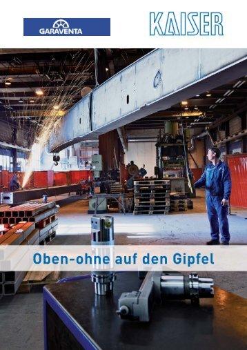 garaventa deutsch.qxp - KAISER Präzisionswerkzeuge AG
