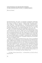 ZUR ENTWICKLUNG DER MUSIKÄSTHETIK IN DER ZWEITEN HÄLFTE DES 18. JAHRHUNDERTS