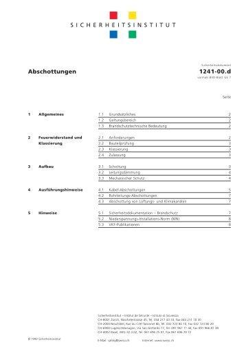 Abschottungen – 1241-00.d - Swissi