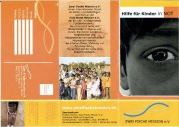 Flyer der Zwei-Fische-Mission zum PDF-Download - Jesus Zentrum ...