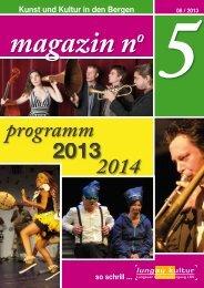 Magazin lesen! - Lungauer Kulturvereinigung