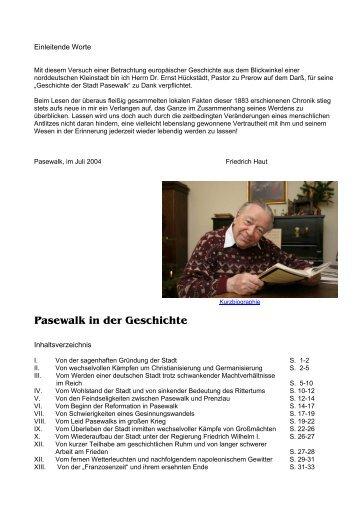 Geschichte - Historische Stadtansichten aus Pasewalk - Stadt ...