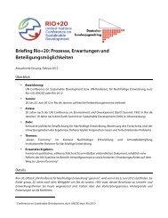 Rio+20 - Arbeitsgemeinschaft der Evangelischen Jugend