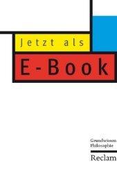 Leseproben Grundwissen Philosophie E-Books - Reclam