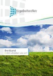 Verkaufsprospekt (PDF) - BürgerBreitbandNetz GmbH & Co. KG