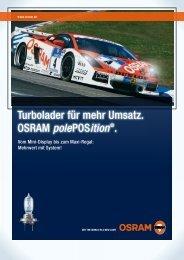 Turbolader für mehr Umsatz. OSRAM polePOSition ®.