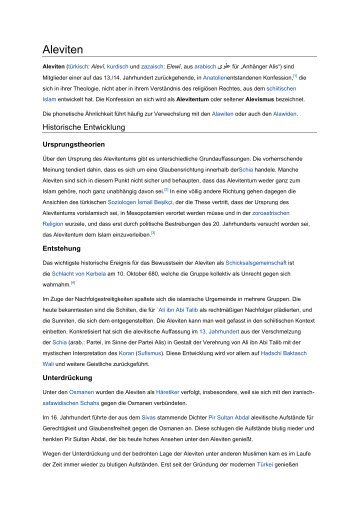 Aleviten - mail@akm-troisdorf.de