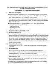 Bachelorstudiengänge Biochemie und Chemie an der Ruhr ...