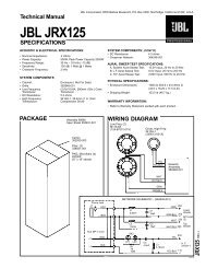 Technical Manual JBL SRX725/F SPECIFICATIONS
