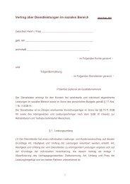 Vertrag über Dienstleistungen im sozialen Bereich - VKIB.DE