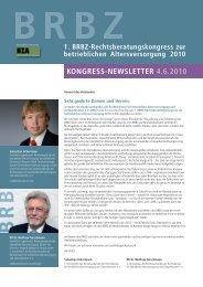 """Download Newsletter """"BRBZ-KONGRESS-NEWSLETTER 04.06.2010"""
