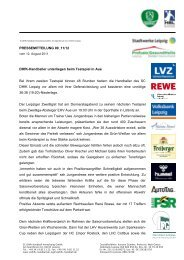 Pressemitteilung 9 - SC DHfK Leipzig eV