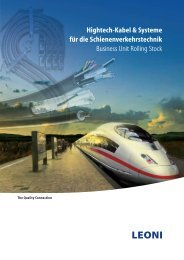 Hightech-Kabel & Systeme für die Schienenverkehrstechnik