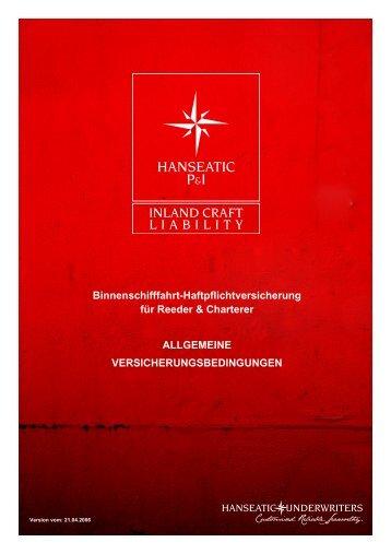 Hanseatic P&I – Inland Craft Liability - Hanseatic Underwriters