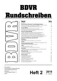 Heft 2 2010 - BDVR