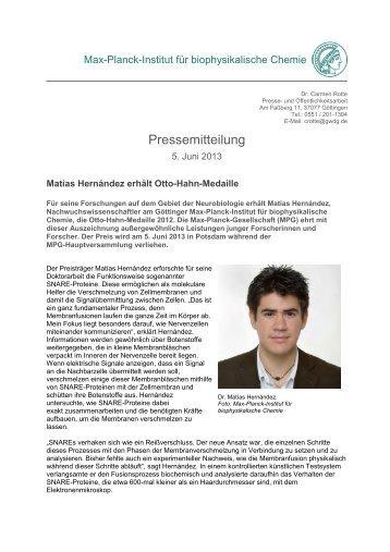 pr_1313 - Max-Planck-Institut für biophysikalische Chemie - Max ...