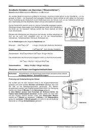 """Anodische Oxidation von Aluminium (""""Eloxalverfahren"""") Eloxieren ..."""