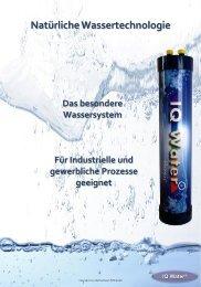 IQ Water Basic Broschüre - WTZ GmbH Sittensen