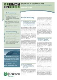 KP NEWS 02.2011 – bAV-Newsletter der Kenston Pension GmbH
