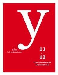 VV-Herbstsemester 11 - Hochschule der Künste Bern