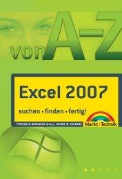 Excel 2007 von A – Z  - Markt und Technik