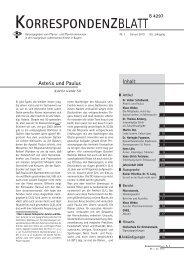 Ausgabe 2010 - Januar - Pfarrer- und Pfarrerinnenverein