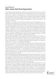 Jörg Widmann: Über meine fünf Streichquartette