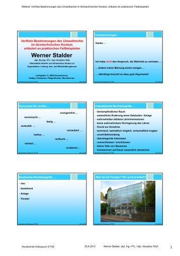 Werner Stalder Werner Stalder - ISI